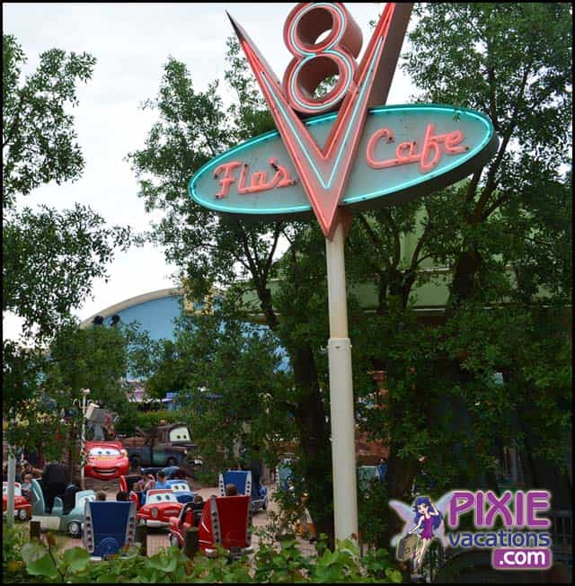 Cars Land Flo's Sign