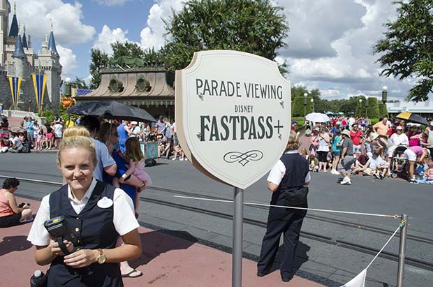 fastpass parade viewing area