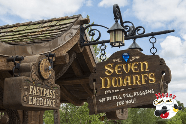 7 dwarfs mine train ride