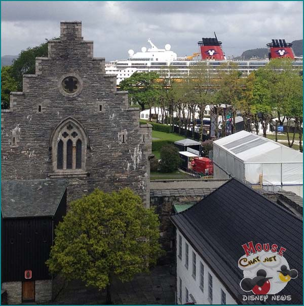 Disney Cruise Line Norway Bergen Castle we found by the port.