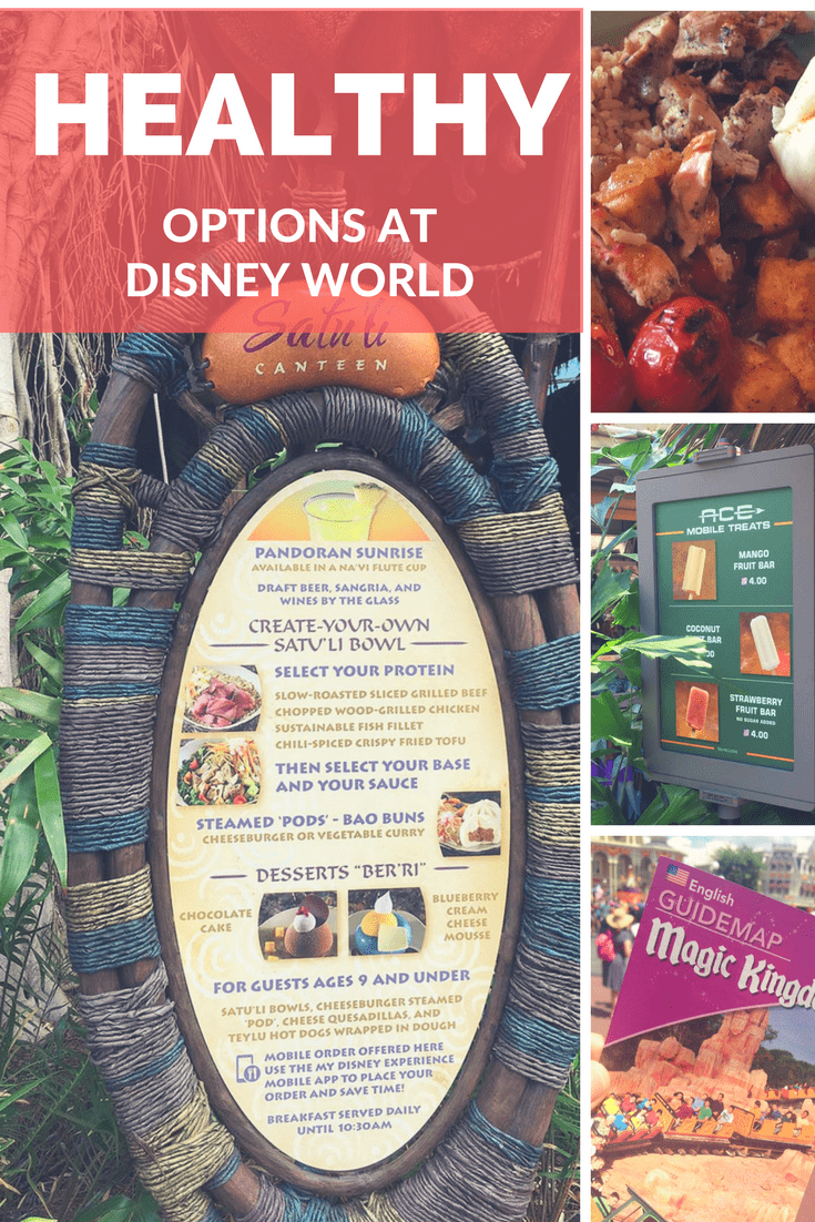 Try these healthy food and dining options at Walt Disney World on your next vacation.