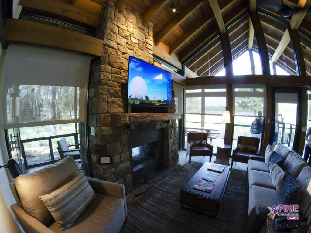 Wilderness Lodge Cabin Livingroom