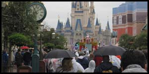 going to disney world in rain and cold weather