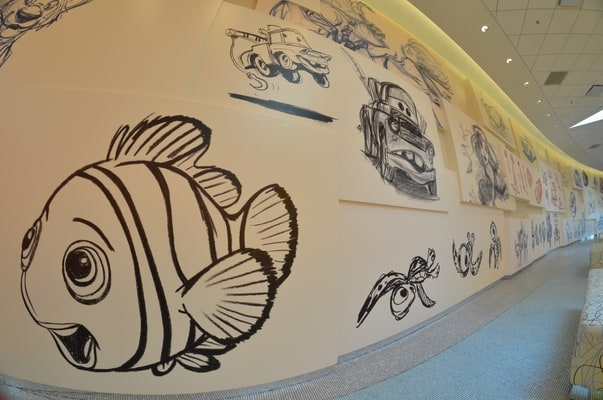 Drawings at Art of Animation resort