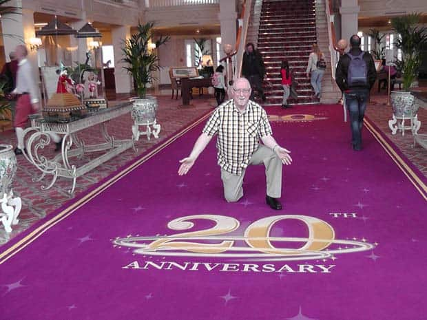 Geoff at the Disneyland Paris Hotel