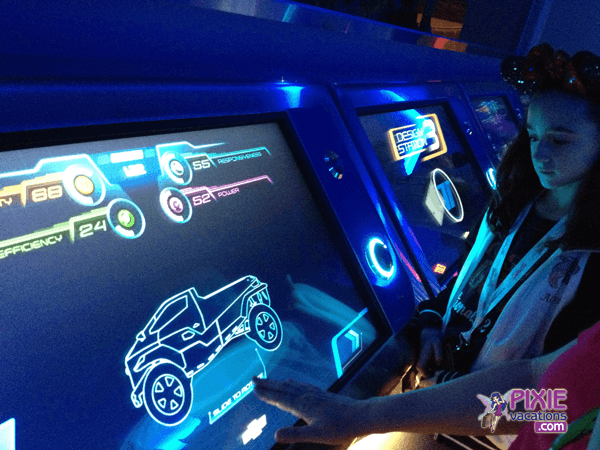 design your test track car at epcot before you ride