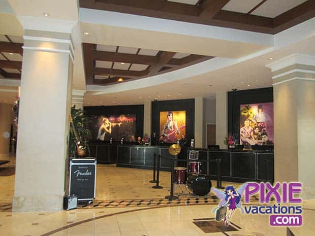 Loews Hard Rock Hotel Lobby check in