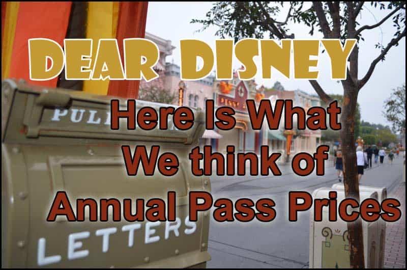 Disney Annual Pass Prices