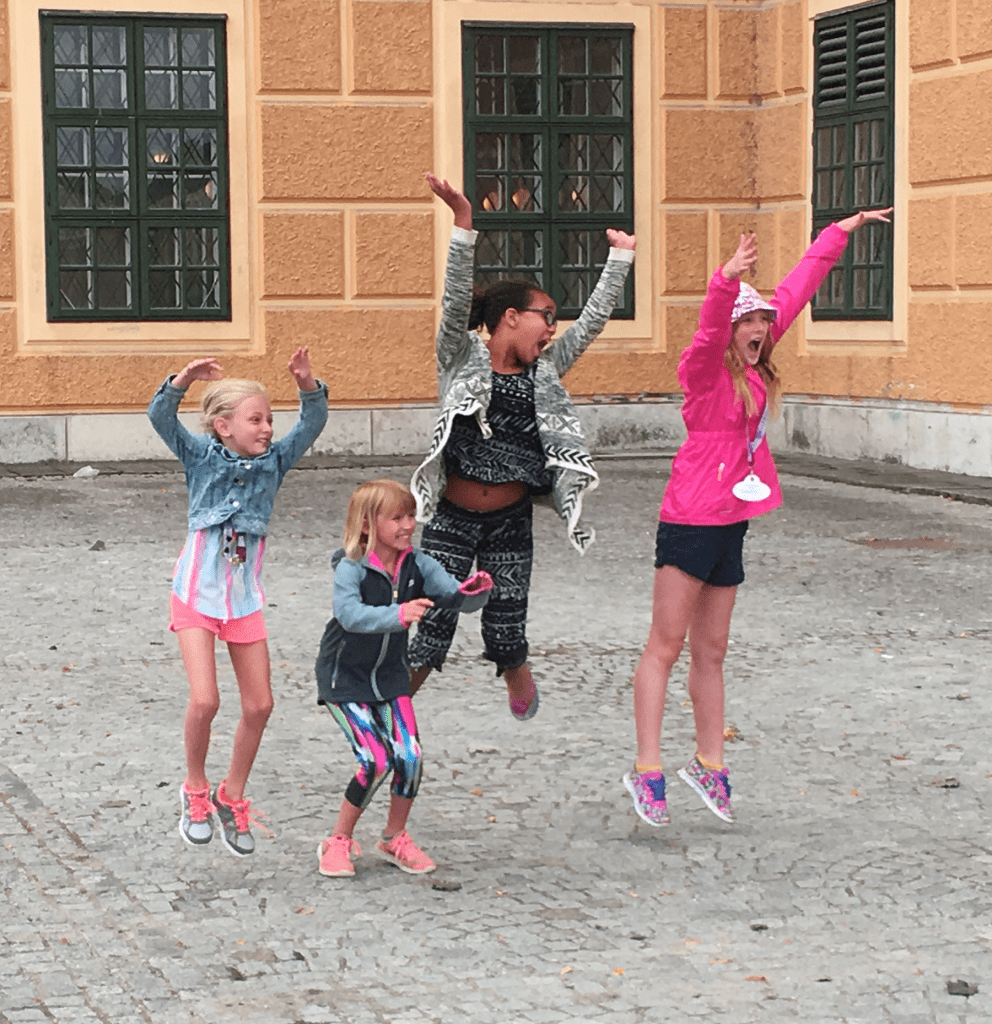 ABD Kids on Danube River cruise