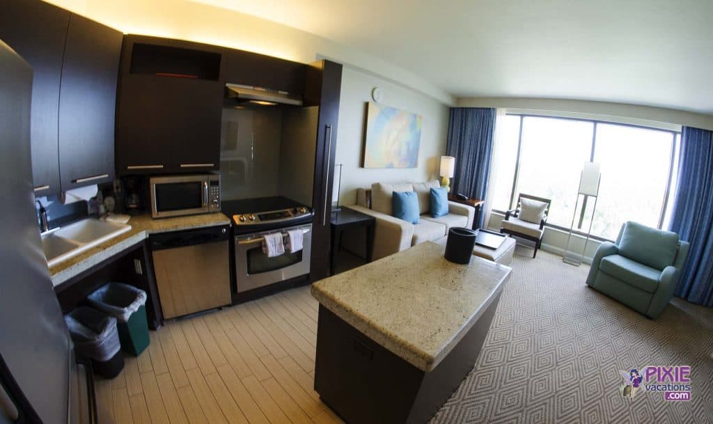 disney s contemporary resort bay lake tower review 18074 | bay lake tower 1 bedroom kitchen pixie vacations 1024x609