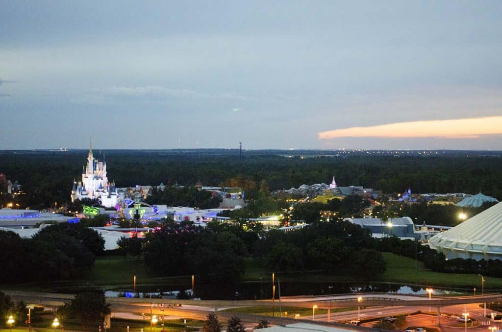 Disney World Contemporary Resort view