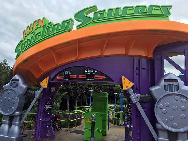 Alien Swirling Saucer Entrance