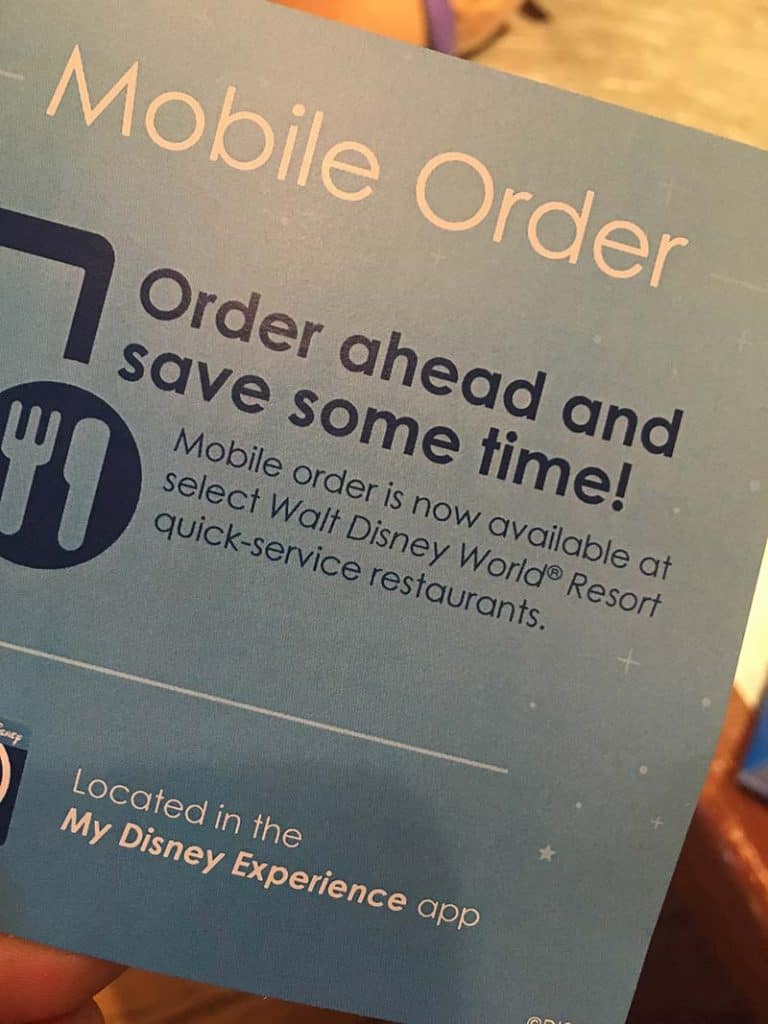 Disney World Mobile Ordering