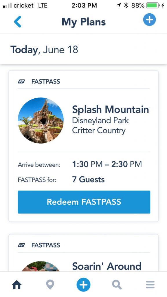 Disneyland Max Pass App