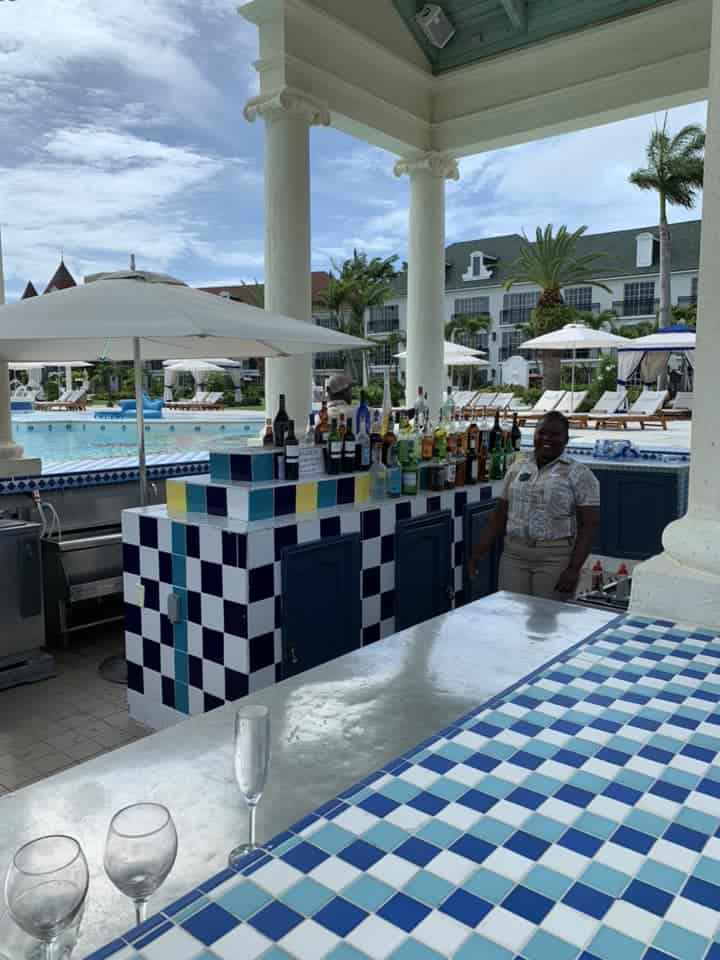 Swim up pool bar at Beaches Resort
